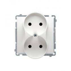gniazdo wtyczkowe podwójne bez uziemienia (moduł) SIMON BASIC