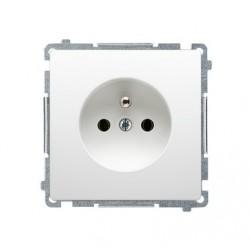 gniazdo wtyczkowe pojedyncze z uziemieniem, z przesłonami torów prądowych (moduł) SIMON BASIC